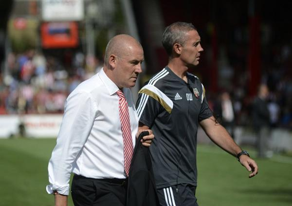 Plenty to think about: Bees boss Mark Warburton and assistant David Weir