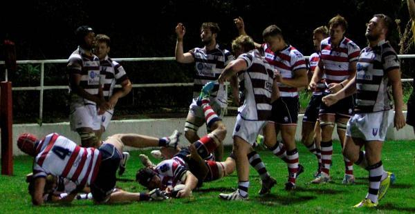 Try this for size: Sam Shires touches down in Rosslyn Park's 36-0 friendly win over Southend last weekend