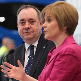 Nicola Sturgeon (right) says she is focusing on persuading people to vote Yes