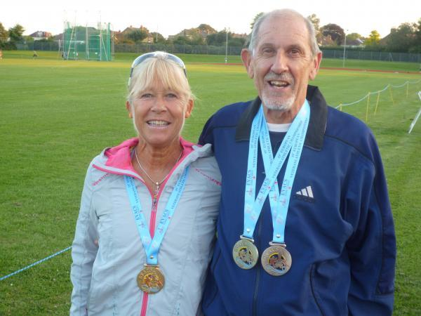 Medal mania: Sue Dassie and Terry Bissett with their European prizes