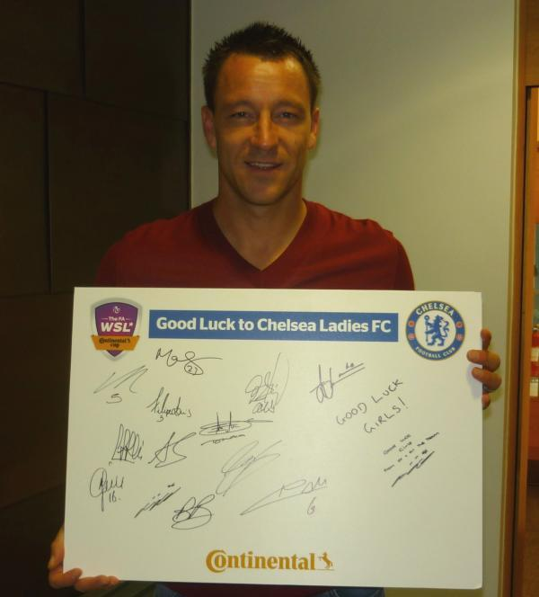 Good luck: Chelsea skipper John Terry