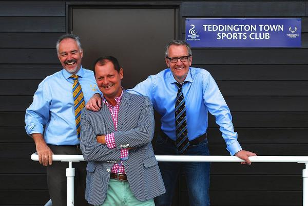New beginning: (From left to right) Teddington RFC youth chairman Simon Cartmell, Teddington Town Cricket Club chairman Warren May and Teddington RFC chairman Gareth Cross are the joint-chairmen of Teddington Town Sports Club