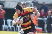 Man possessed: Richmond number eight Chris Davies has found his way to the try line in the back row