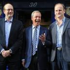 Wimbledon Guardian: Ukip leader Nigel Farage, centre, and new Ukip MP Douglas Carswell, right, join candidate Mark Reckless on the campaign trail for the upcoming Rochester and Strood by-election