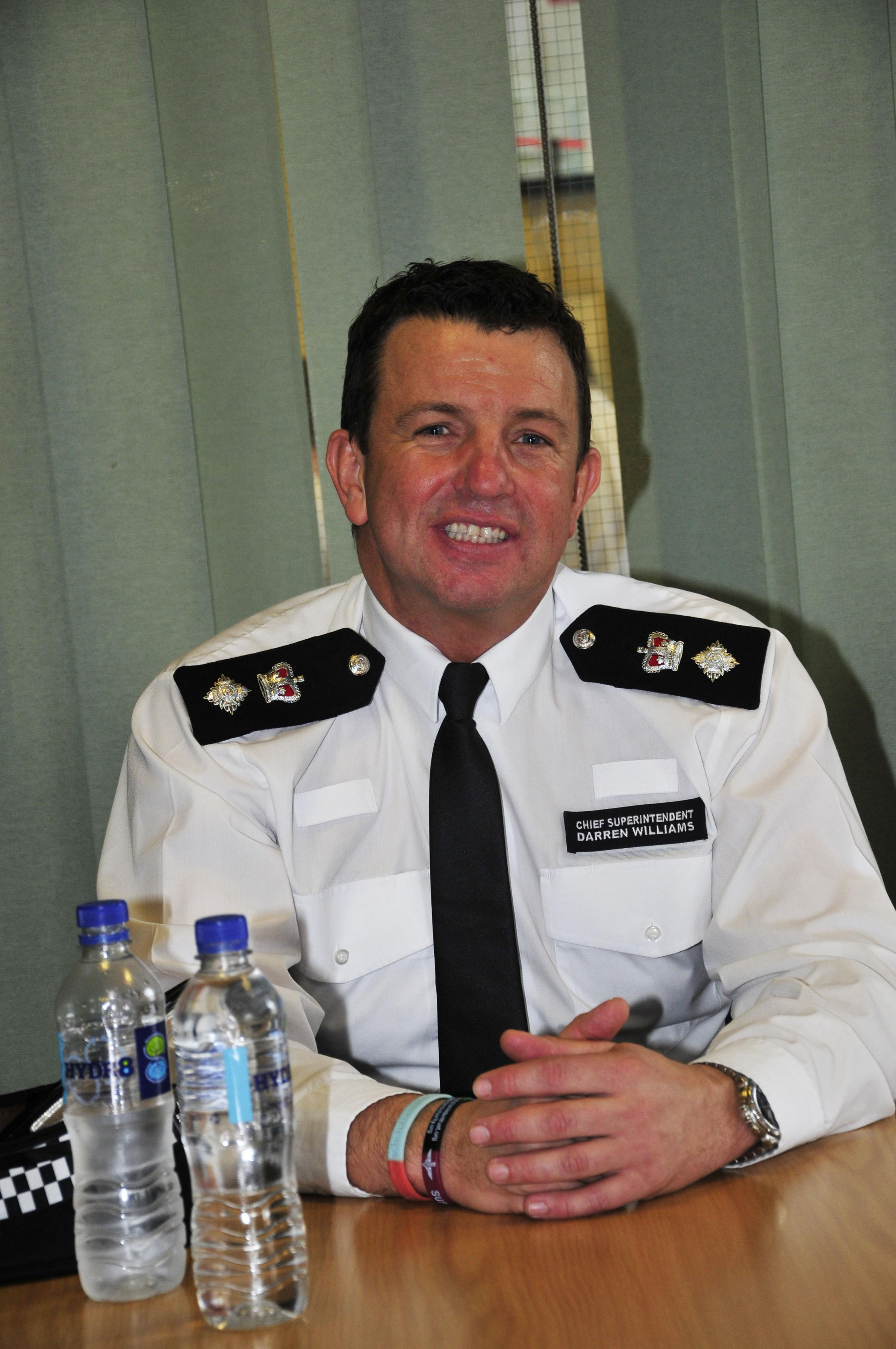 Suspended on full pay: Chief Superintendent Darren Williams