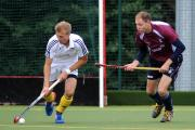 Give me more: Wimbledon Hockey Club head coach Ben Marsden, right, is looking for more intensity from his charges