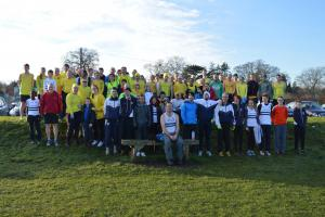 Croydon Harriers: Harhara waves the club flag at the South inter-counties