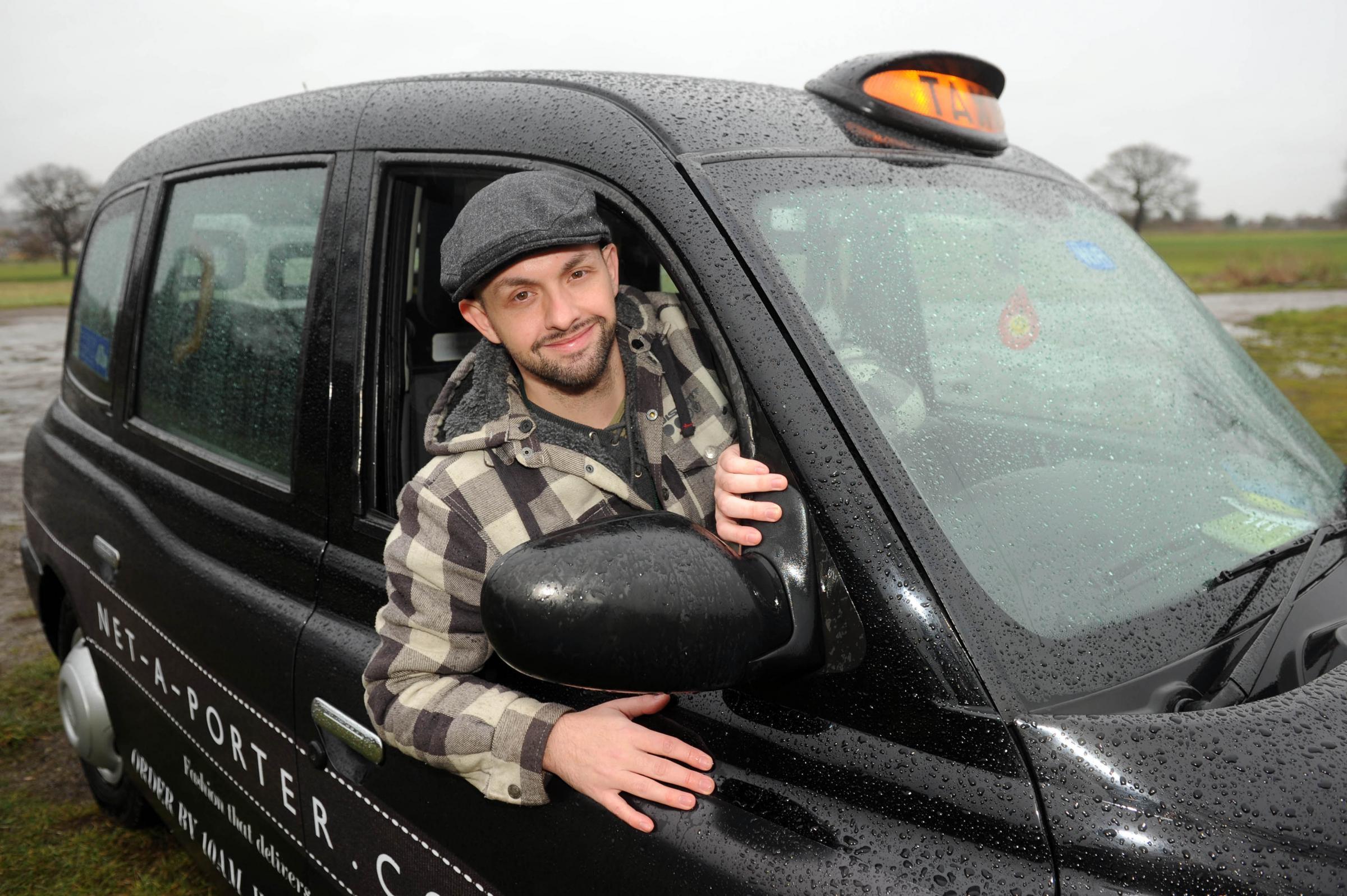 Ross Turner in his black cab