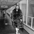 Wimbledon Guardian: Greek singer Demis Roussos leaves London's Heathrow Airport for a tour of Scandinavia in 1974