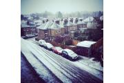 Snow in Hatfield Road, Ashtead, this morning Picture: Susan Bolam