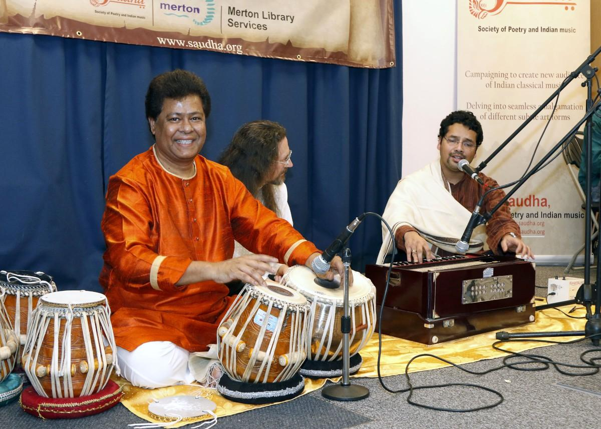 Ghazal and Thumri Festival: Yousuf Ali Khan playing the Tabla, Erik Schelander and Sayan Gupta