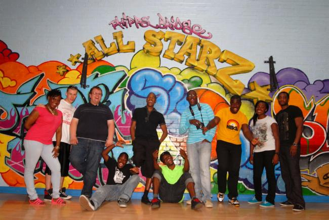 Young people at a weekly session at Phipps Bridge in 2010 which has had its funding axed this week