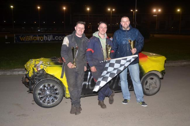 Winners and runners from the Winter Banger League (from left to right): Colin Jones (third), Reece Priestly (first) and Rob Barnes (second)