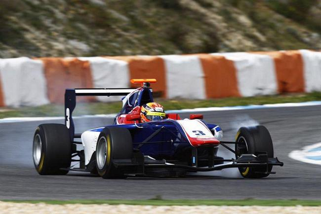 Setting the pace: Mitch Gilbert has made a fast start to life with GP3 team Carlin