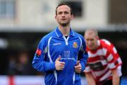 Back on familiar ground: Richard Jolly in action for Wealdstone against Kingstonian at Kingsmeadow in 2011