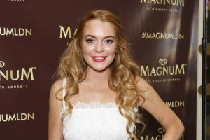 Lindsay Lohan celebrates birthday at Magnum's new Pleasure Store