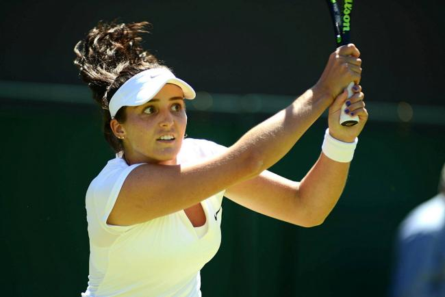 Defeated: Laura Robson lost in the second round of the Granby National Bank Challenger tournament in Canada