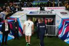 Early bath: Chris Robshaw exits Twickenham stage left after defeat to Australia on Saturday night  All pictures: Getty Images
