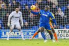 Equaliser: Adebayo Akinfenwa was top dog with the late leveler at Leyton Orient