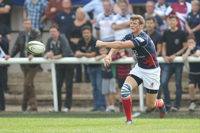 Try scorer: Pete Lydon crossed for one of London Scottish's tries in Bristol
