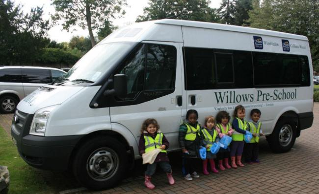 Children from the Willows Pre-School in Colliers Wood on a school trip