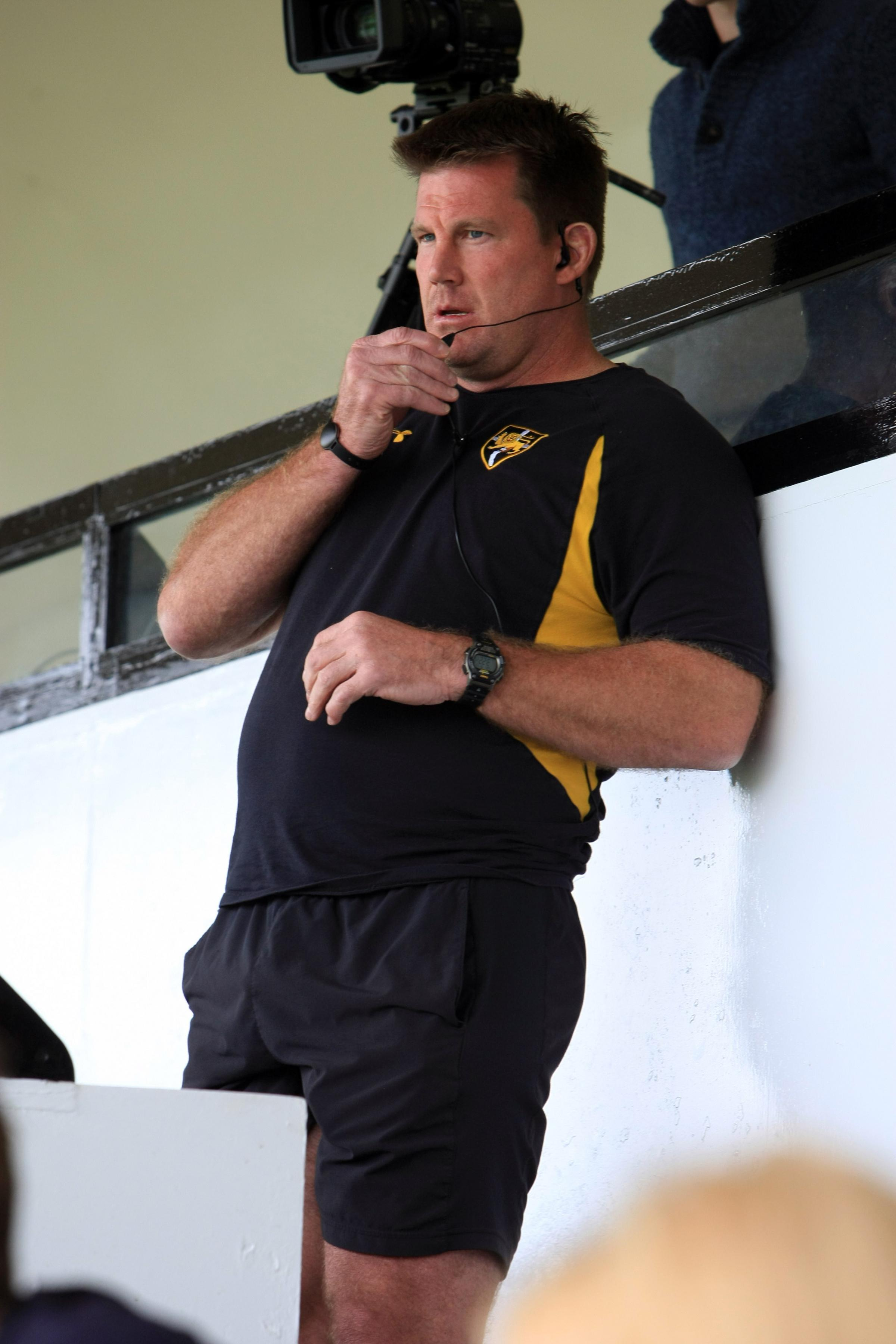 No more: Mike Schmid in familiar pose watching over an Esher match in 2014