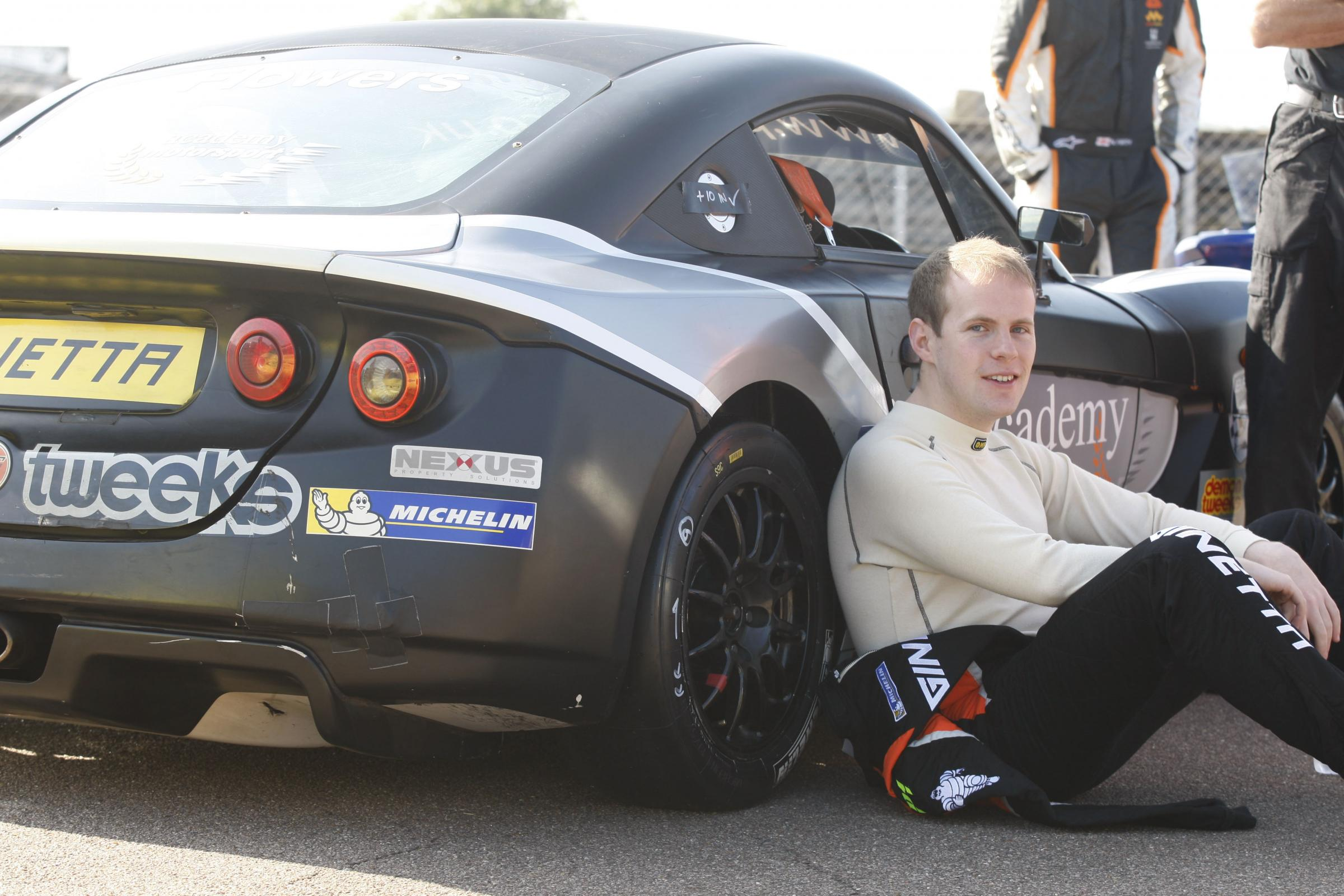 One man and his car: Matt Flowers is fourth in the Protyre Motorsport Ginetta GT5 Challenge