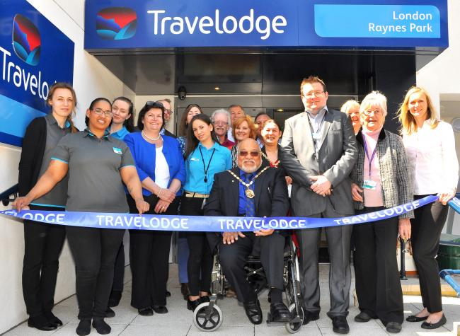 The mayor of Merton attended the grand opening of the Travelodge