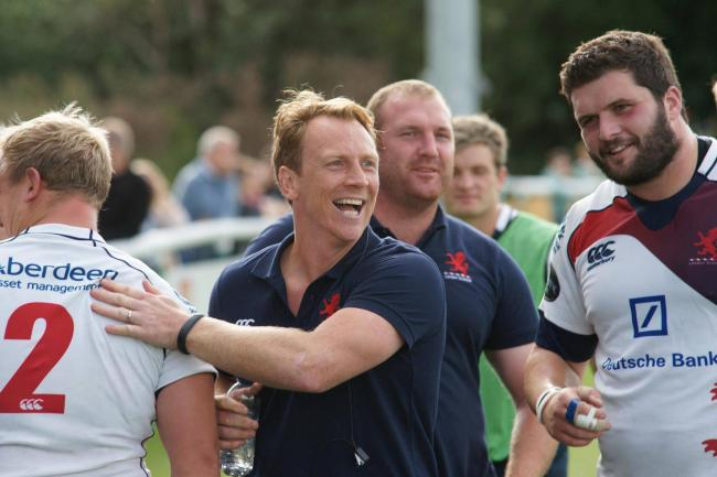 Delighted: London Scottish head coach Peter Richards