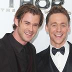 Wimbledon Guardian: See pictures of Chris Hemsworth and Tom Hiddleston reuniting as Thor and Loki