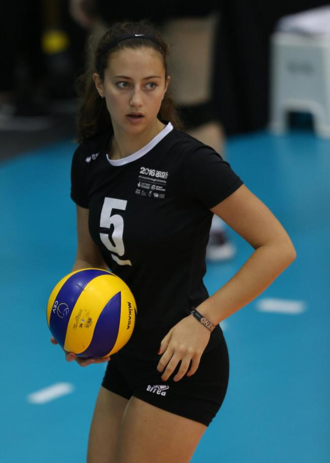 Eye on the prize: Richmond Volleyball Club's Anna Keefe in action for England Cadets at the UK School Games