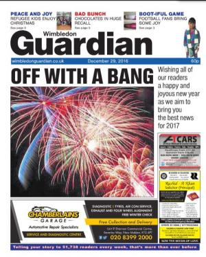 Wimbledon Guardian: The e-newspaper is your weekly copy of your favourite local newspaper delivered to your inbox. Sign up for free here >