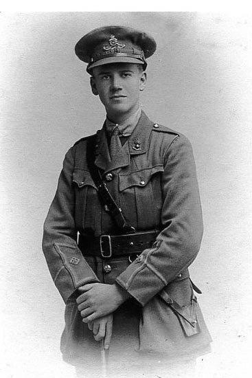 Tribute to a young Wimbledon officer killed in the First World War