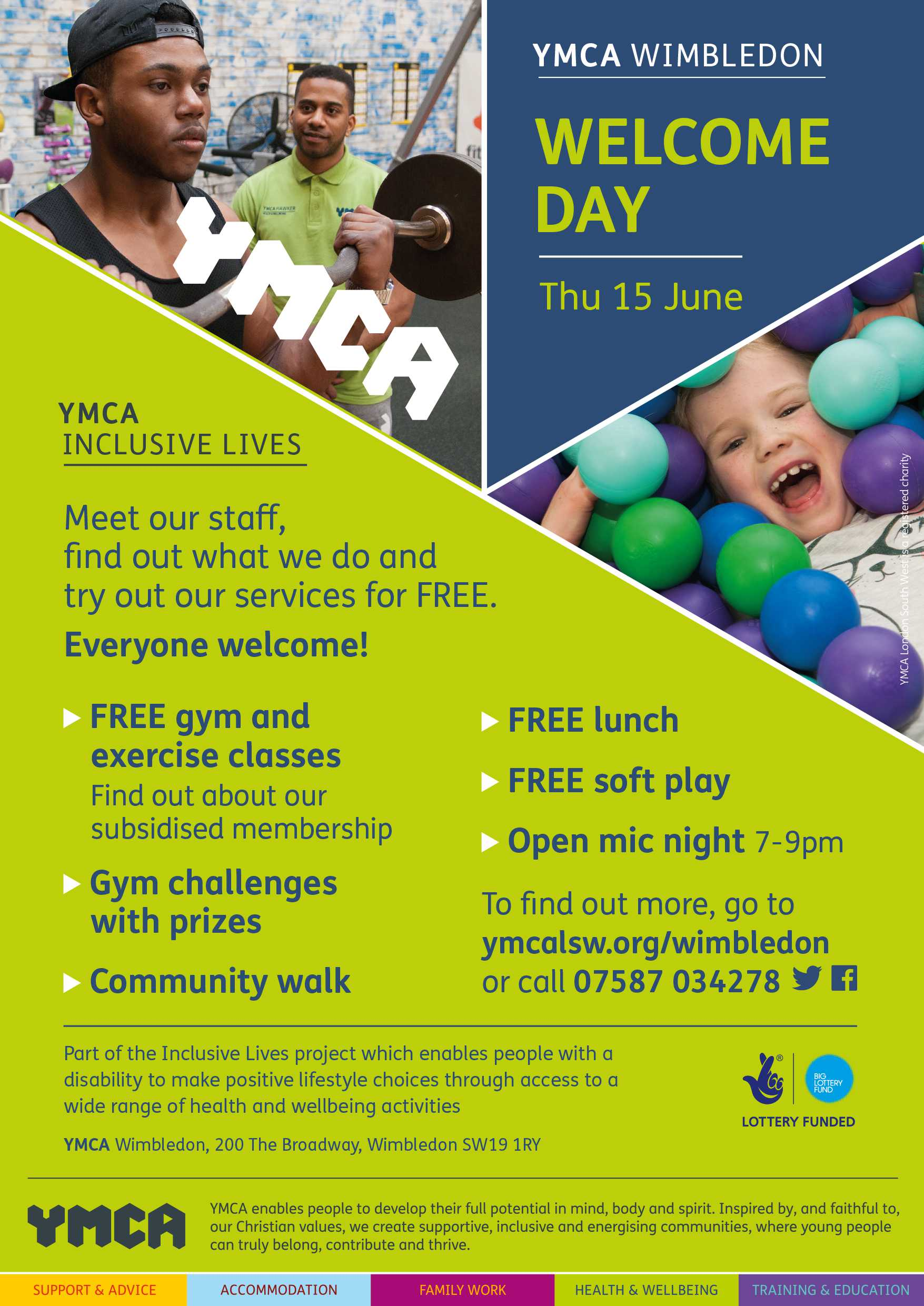 YMCA Wimbledon Welcome Day June 15