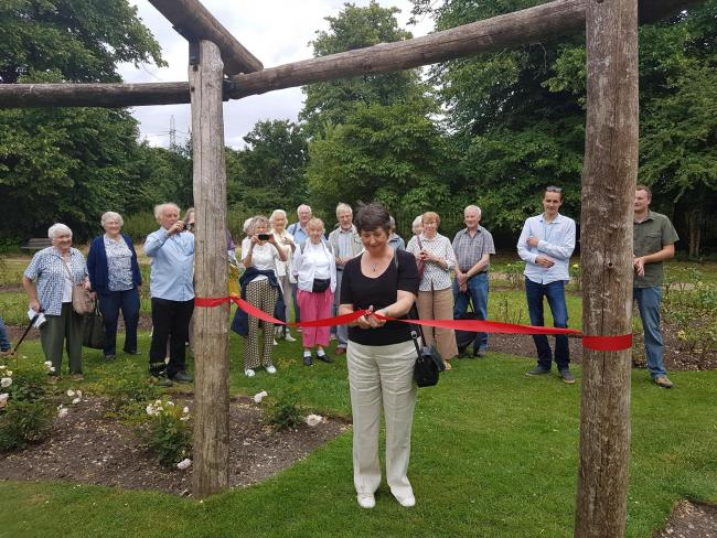 Morden Hall Park Rose Arbour unveiled