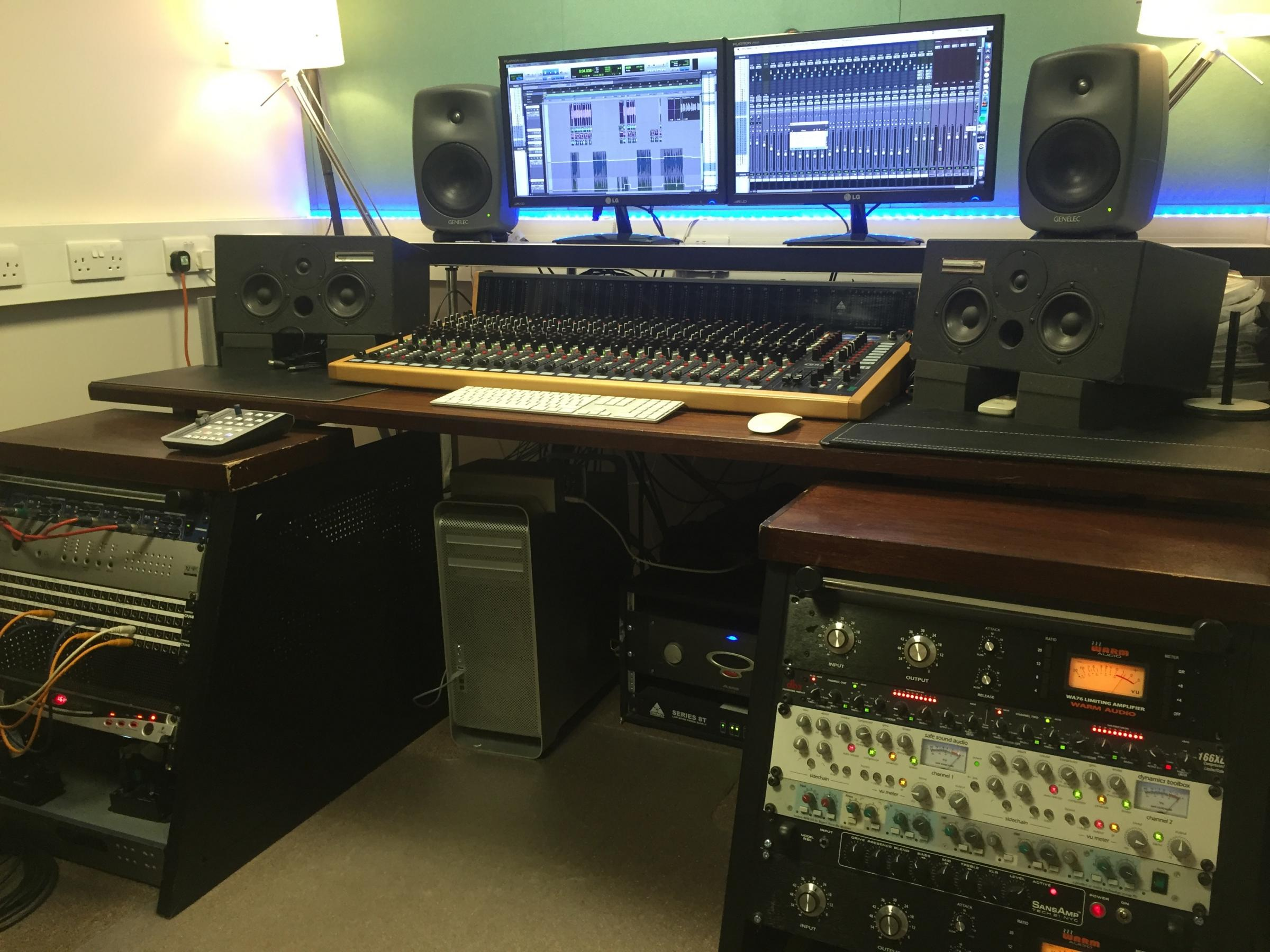 One of the control rooms at Crown Lane Studios