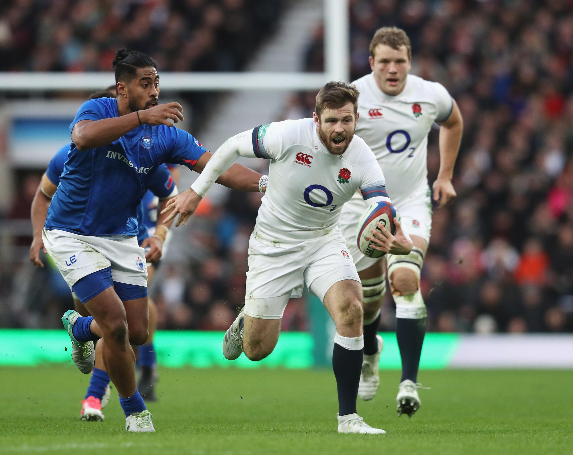 Elliot Daly in action for England at Twickenham last weekend. Picture: RFU Collection via Getty Images.
