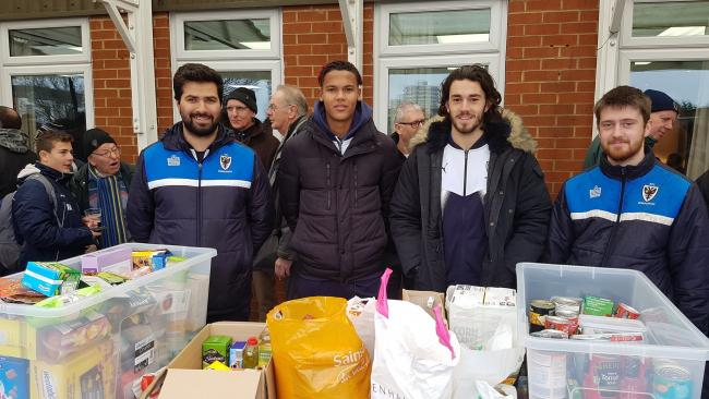 Toby Sibbick and Will Nightingale at Foodbank