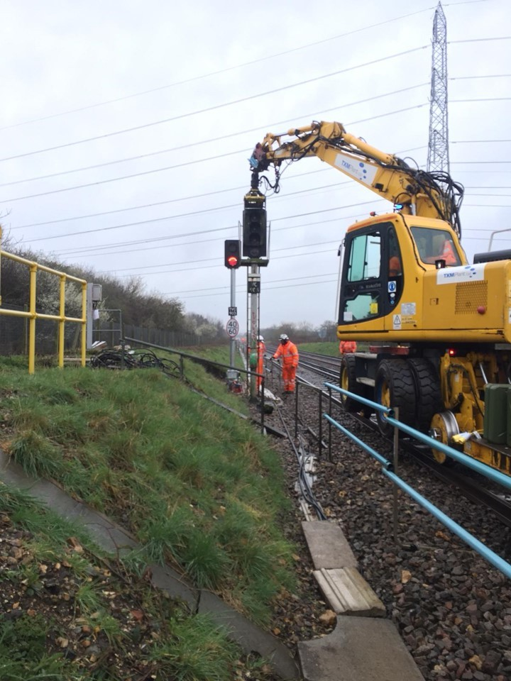 Staff at work over the Easter weekend. Photo: Network Rail