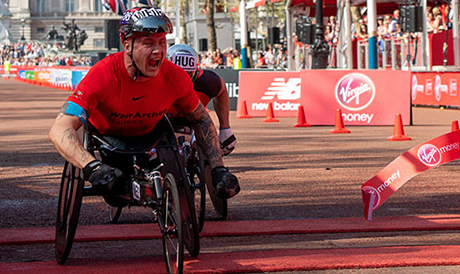 David Weir win his eighth Virgin London Marathon. Picture: London Marahon Events Ltd