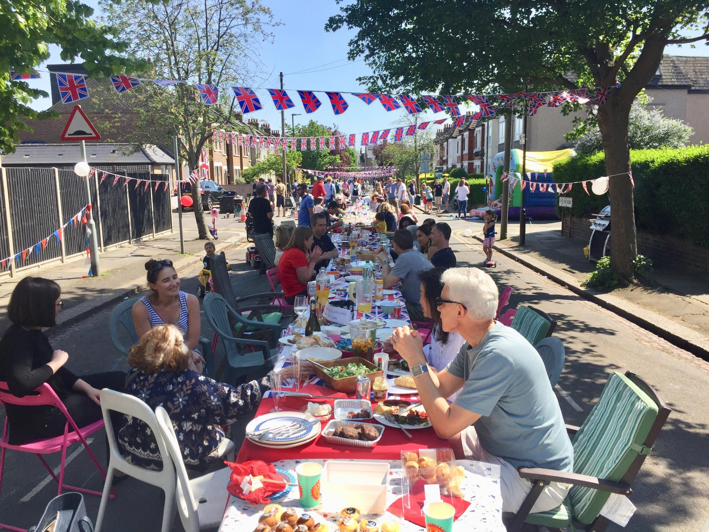 Royal Wedding Street Party in Evelyn Road