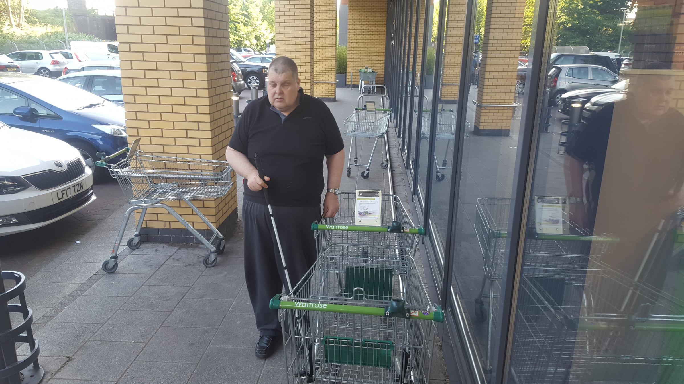 Wayne Busbridge wants something done about the poor trolley situation at Raynes Park Waitrose