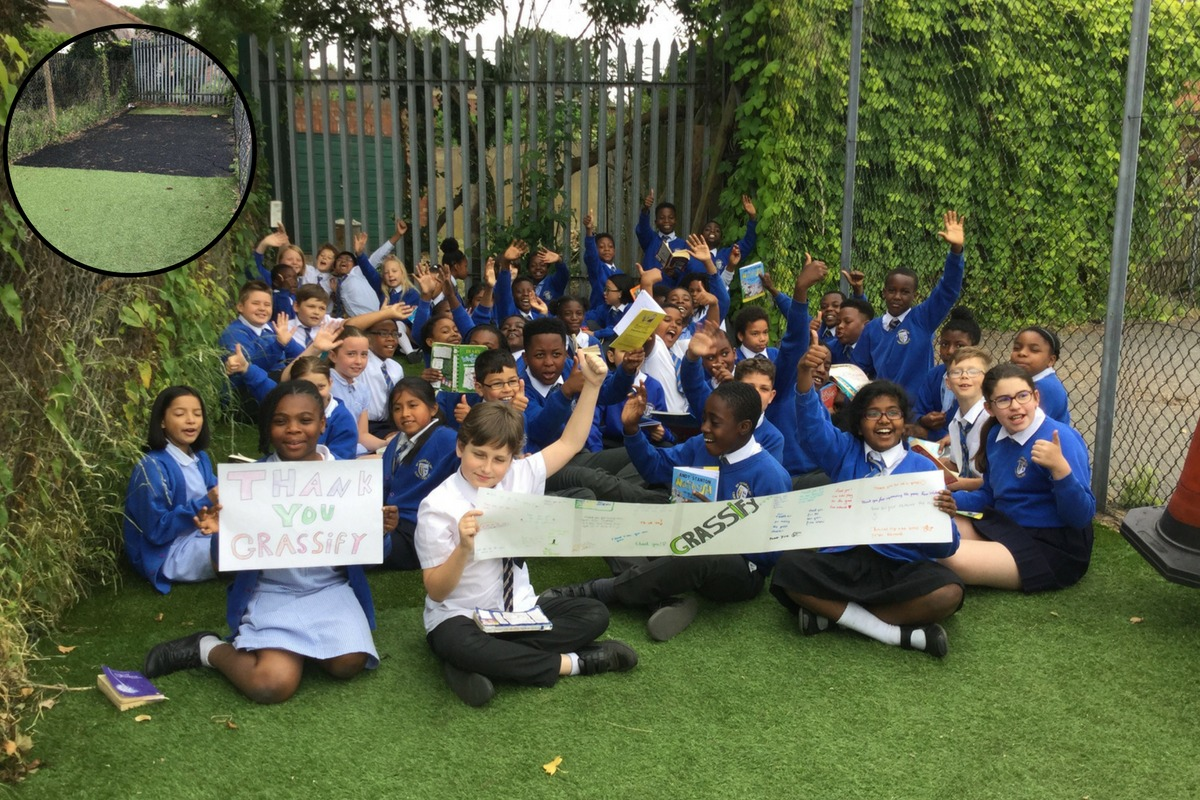 GRASSify to the rescue for St Thomas Canterbury Catholic Primary School