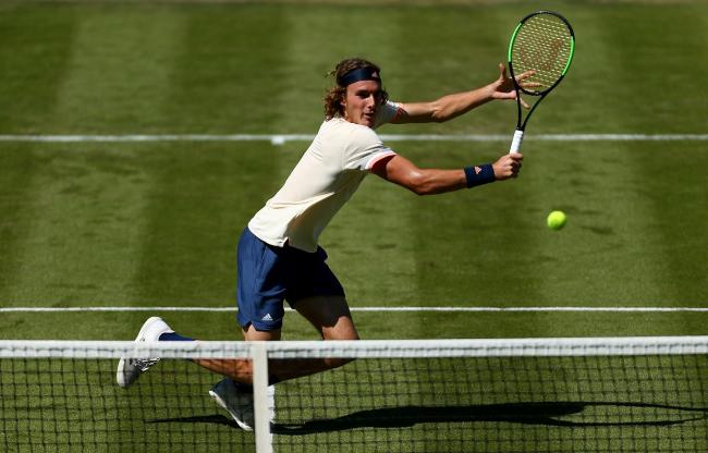 Stefanos Tsitsipas is hoping to make a big impression at this year's Wimbledon. Picture: Jordan Mansfield