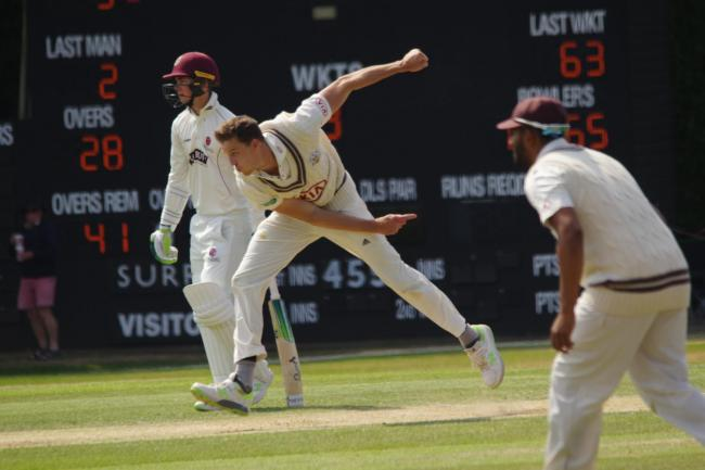Morne Morkel in action for Surrey during their recent victory over Somerset in the Specsavers County Championship. Picture: Mark Sandom