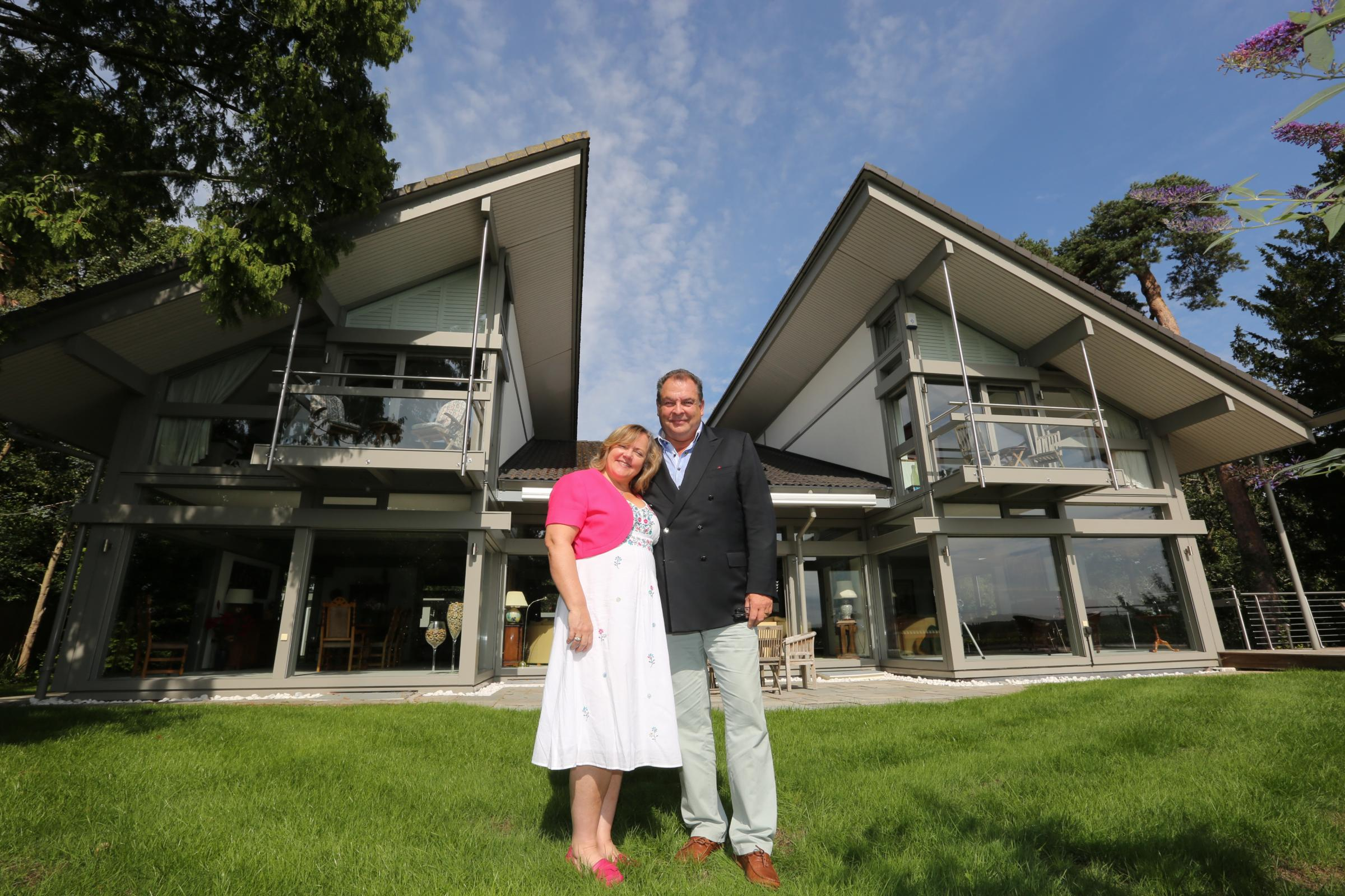 Mark and Sharon Beresford who are selling their home through a competition