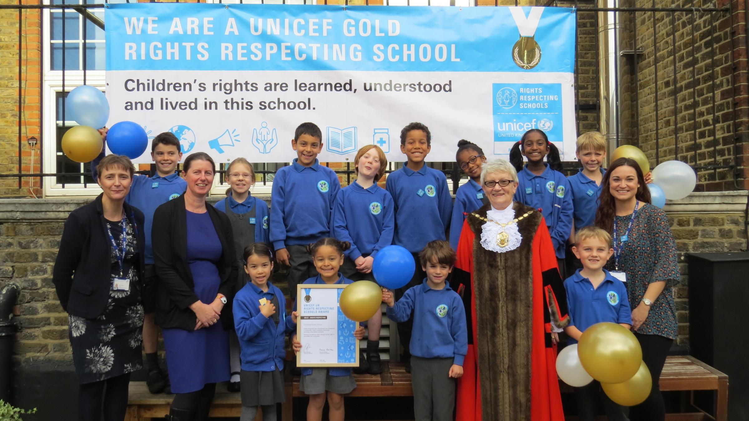 Dundonald Primary School receives prestigious Unicef 'UK gold award'