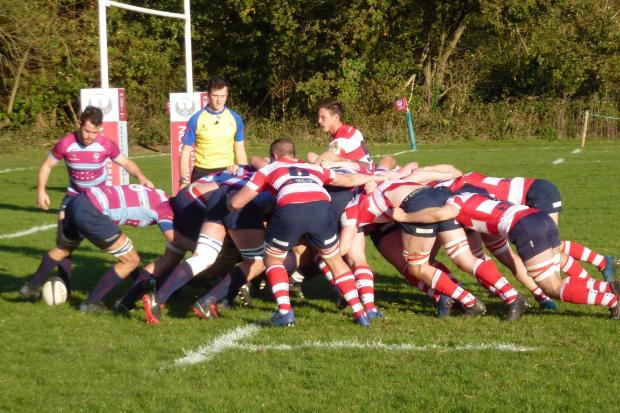No.8 Kane Alboni controlling it at the base of the scrum for WImbledon