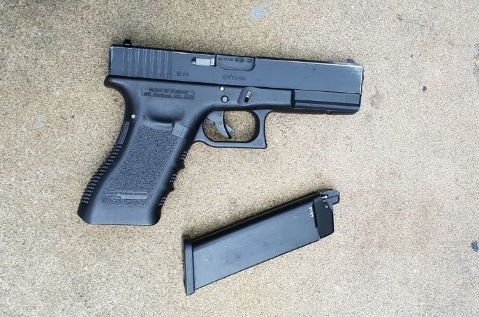 An imitation firearm found by police during a 'pedestrian stop'