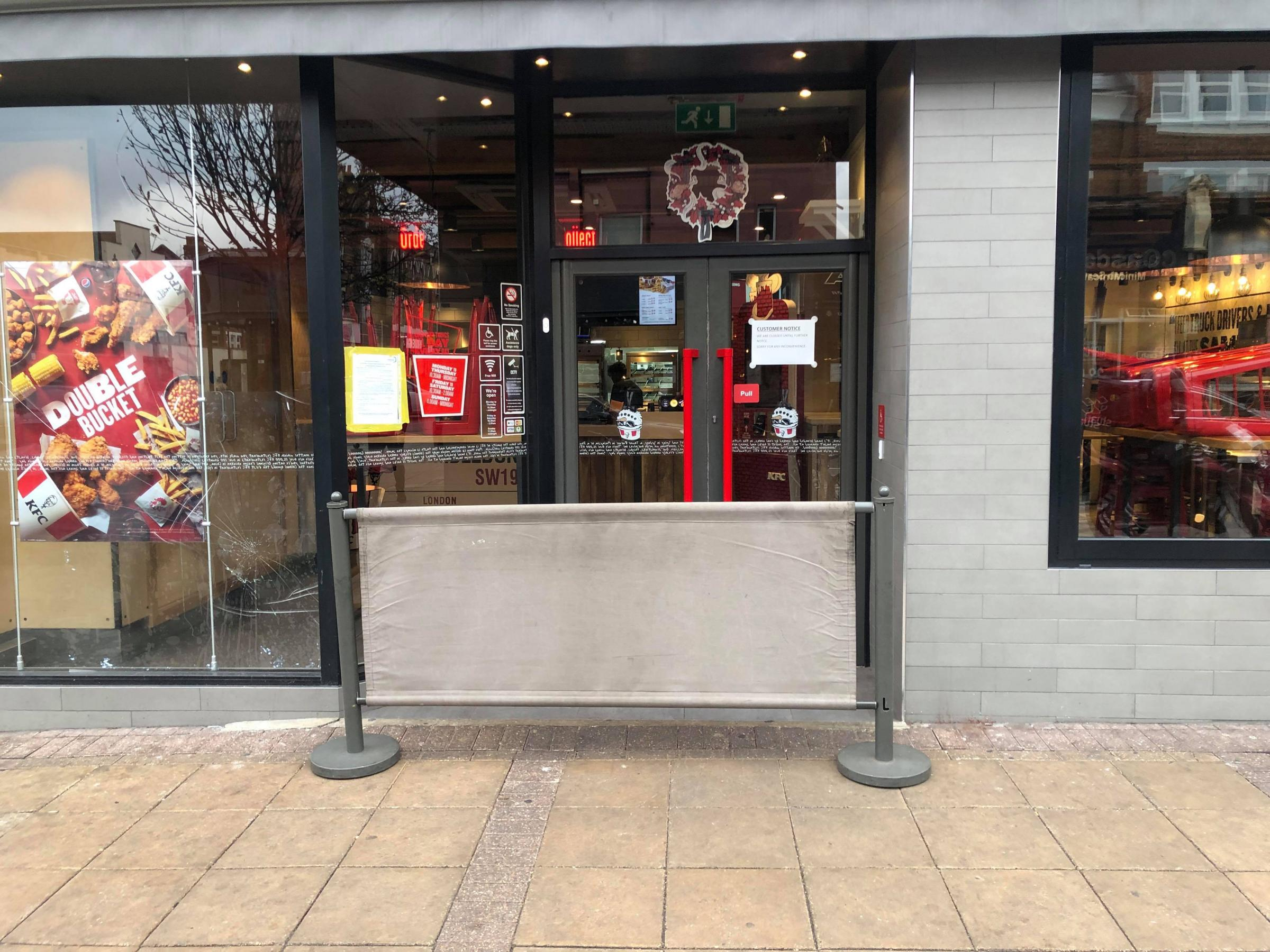 KFC in Wimbledon closed by the courts